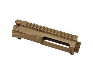 AR15 STRIPPED BILLET UPPER RECEIVER in FLAT DARK EARTH