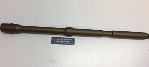 AR15 - 16 inch 5.56/.223 caliber  barrel done in BURNT BRONZE COLOR