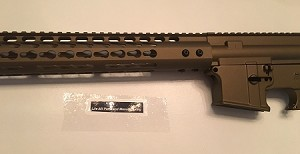 Burnt Bronze - Complete upper 15 inch MLOK rail and lower 80% set - AR15
