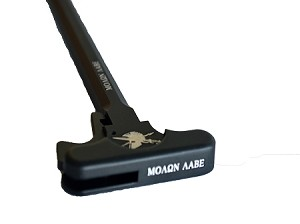 Moaon AAbe themed charging handle.