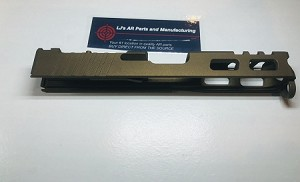 GLOCK 19 - 9mm CUSTOM SLIDE WITH RMR CUT OUT AND CUSTOM CUT OUTS- GEN 3 , 2, or 1 - Burnt Bronze