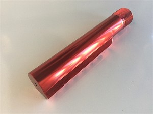 LJ's RED mil spec buffer tube- AR15 platform